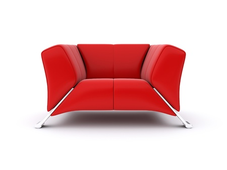 red chair: Red chair. 3d rendered image