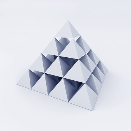 pyramids: Pyramid composed of small pyramids. 3d illustration
