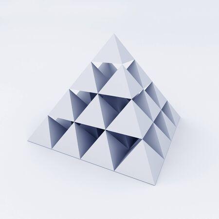 pyramids: Pyramid composed of small pyramids. 3d illustration