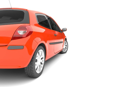 3d red car on a white background Stock Photo - 11911505