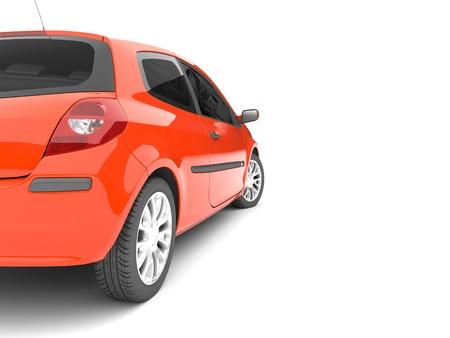 shiny car: 3d rode auto op een witte achtergrond