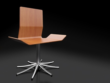 Modern chair on a black background photo