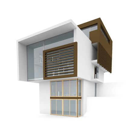 3d house on a white background. Stock Photo - 11911511