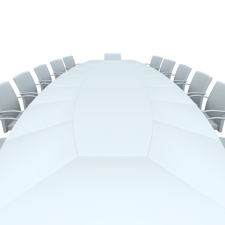 Isolated conference table. 3d  rendered image photo