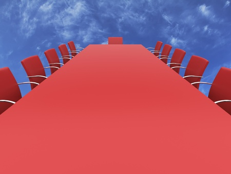 Boardroom table in the sky.  photo