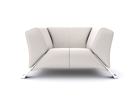 White chair. 3d rendered image Stock Photo - 11960427