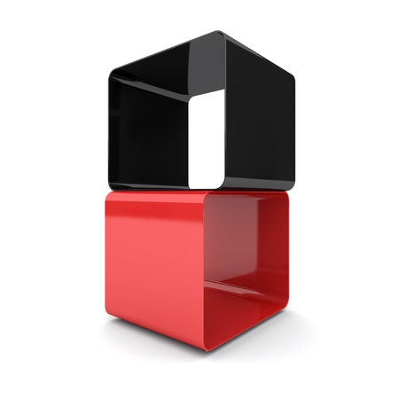 Two cubes. 3d rendered image Stock Photo - 11960423