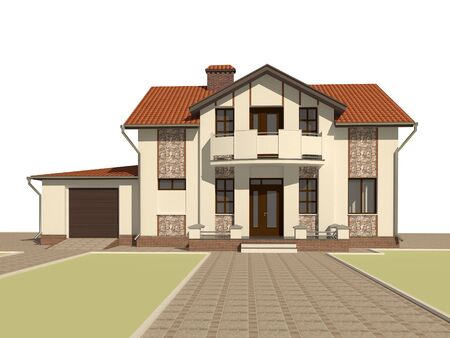 3D sketch of the house Stock Photo - 11960500