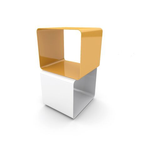 Two cubes. 3d rendered image photo