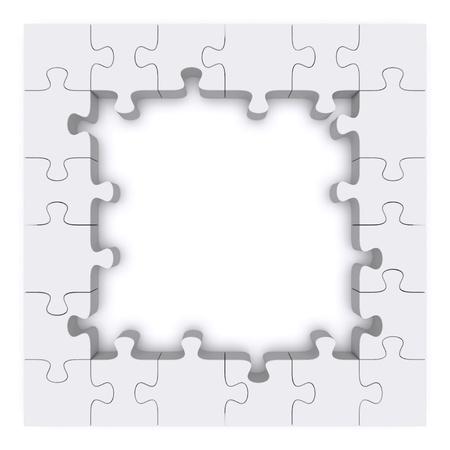 piezas de rompecabezas: Estructura compuesta de piezas de rompecabezas. Imagen 3d rindi�