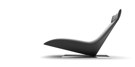 Modern black chair on a white background. 3d rendered image  Stock Photo - 12008016