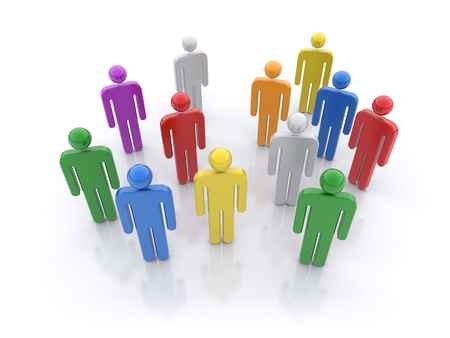 group strategy: People group. Social concept.  3d rendered illustration Stock Photo