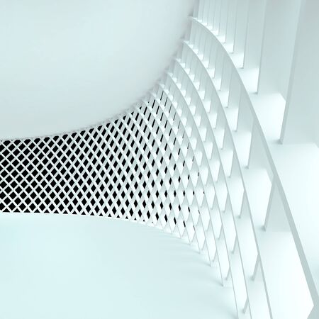 Abstract architecture. 3d rendered image photo