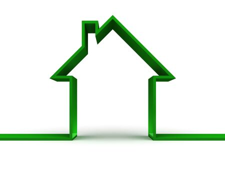 3d green  house Stock Photo - 12052073