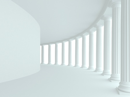 columns: Abstract architecture. 3d rendered image Stock Photo