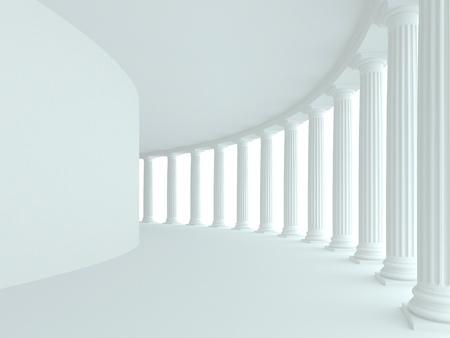 columnas romanas: La arquitectura abstracta. Imagen 3d rindi�