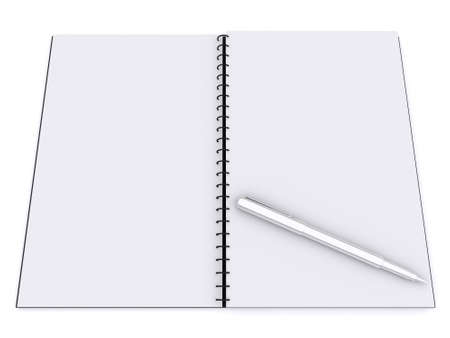 3d blank notebook photo