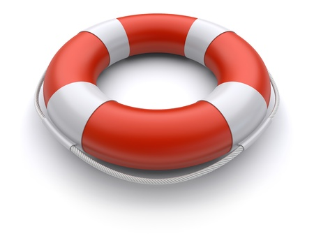 lifebelt: 3d lifebuoy on a white background Stock Photo