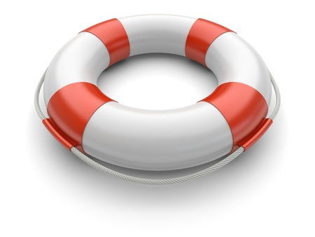 ring life: Lifebuoy on a white background  3d rendered image