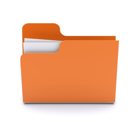 Folder on a white background 3d image