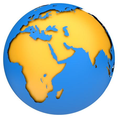 Earth globe map  side of Africa and Europe  3d image photo