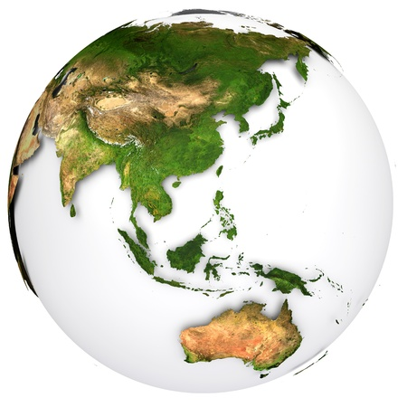 south asia: Earth planet globe  Side of the Australia and Asia  Stock Photo
