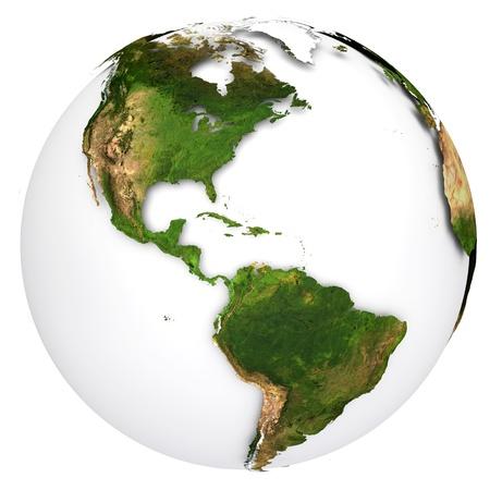 the americas: Earth planet globe  USA side