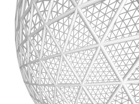 Abstract wire sphere on a white background  3d rendered image Stock Photo - 13299006
