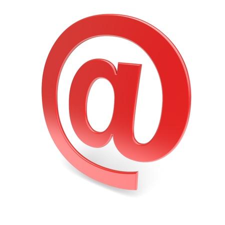 E-mail symbol  Red Stock Photo - 13320808