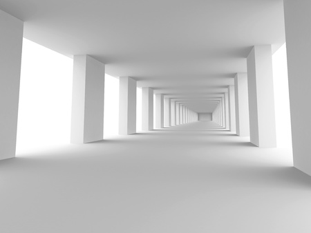 hallway: Abstract architecture  Modern entrance hall  3d rendered image Stock Photo