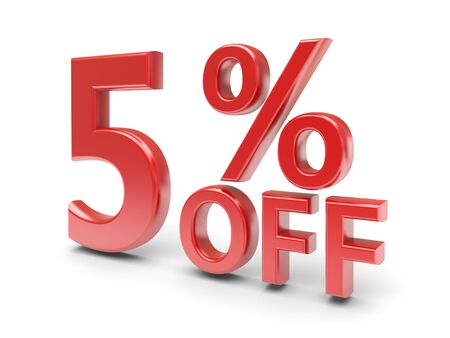 5 percent sale discount  3d image photo