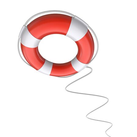 Help  lifebuoy on a white background  3d rendered image photo