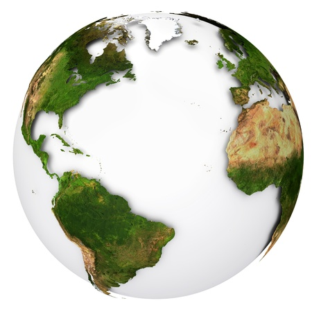 the americas: Earth planet globe  Side of the Atlantic Ocean
