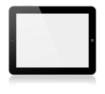 Tablet PC computer with blank screen  Isolated on a white  3d image  photo