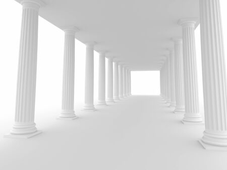 Abstract architecture  3d rendered image photo