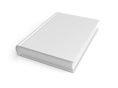 White blank book  3d image photo