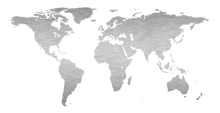 usa map: Earth world map with a brushed metal texture