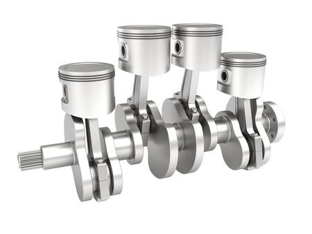 crank: 3d model of a piston crank mechanism of an internal combustion engine
