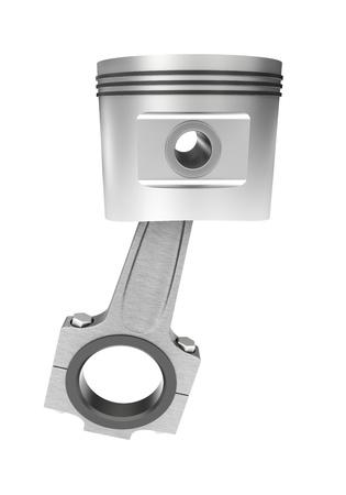 crank: 3d model of a crank mechanism piston of an internal combustion engine