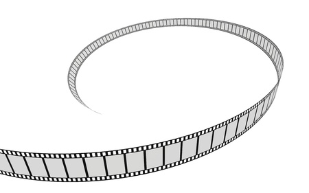 Cinema film on a white background. 3d image photo