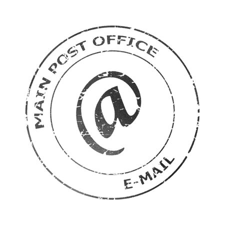 postmark: Isolated postmark illustration from e-mail letter envelope