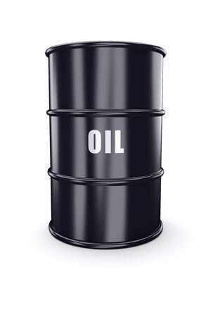 gallon: Barrel of oil on a white. 3d image