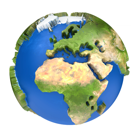 Earth world map africa and europe on a planet globe stock photo earth world map africa and europe on a planet globe 3d concept illustration illustration gumiabroncs Choice Image