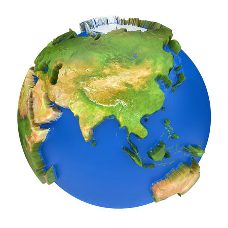 Earth world map asia and australia on a planet globe 3d concept earth world mapstralia and asia on a planet globe 3d concept illustration illustration gumiabroncs Images