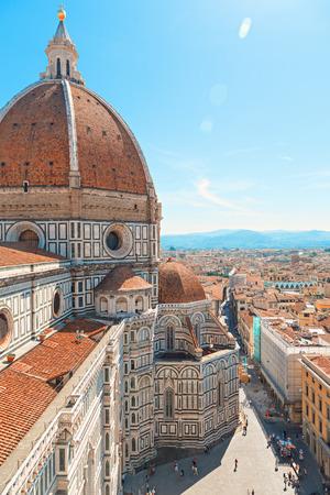 santa maria del fiore: Italy, Toscana, Florence.Piazza del Duomo and Cathedral Santa Maria del Fiore