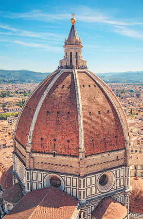 fiore: Italy, Toscana, Florence. Dome of the Cathedral Santa Maria del Fiore Stock Photo