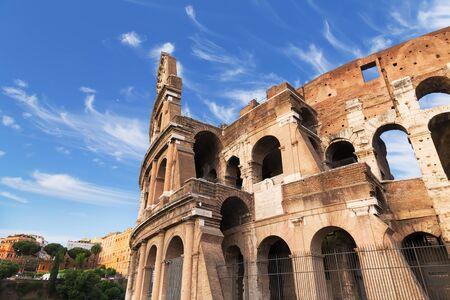 roman amphitheater: Rome, Italy. The Colosseum, famous ancient Roman amphitheater