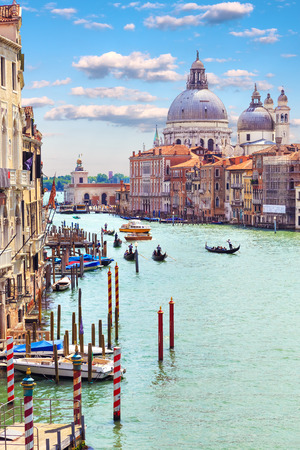 urban culture: Italy. Venice. Grand Canal. View of the Basilica di Santa Maria della Salute