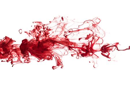 encre: Résumé motif de tomber dans la goutte d'eau de l'encre rouge
