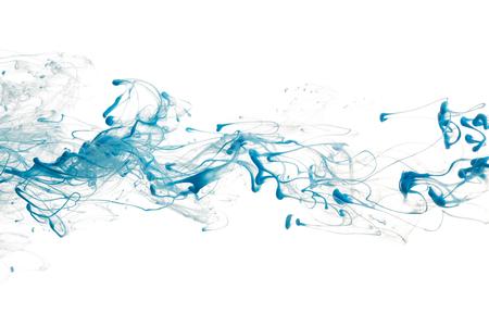 Blauwe kleur inkt verf abstract patroon in water vloeistof